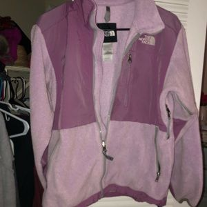 The North Face  purple fleece jacket